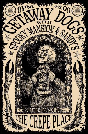 DIO Fest Presents: Getaway Dogs w/ Spooky Mansion and Sandys