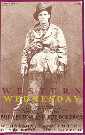 WESTERN WEDNESDAY # 38 An entire night with BREA BURNS AND THE BOLEROS
