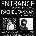 (((folkYEAH))) Presents: Entrance (Solo), Rachel Fannan
